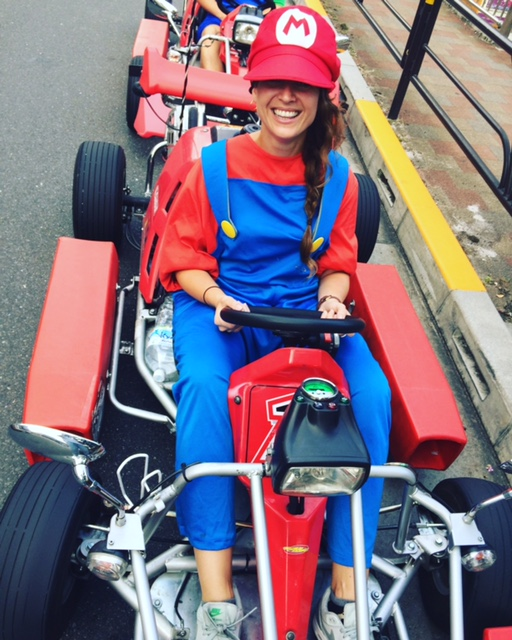 Mario karting in Tokyo